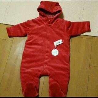 ベビーギャップ(babyGAP)の【新品】babygap   足付きカバーオール アウター ジャンプスーツ 70(カバーオール)