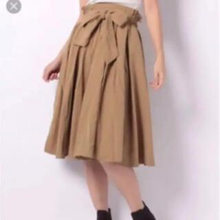 レトロガール(RETRO GIRL)のレトロガール リボン ボリューム スカート ベージュ(ひざ丈スカート)