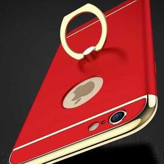 大人気シンプルお洒落☆リング一体型でフイット感抜群 全5色(iPhoneケース)