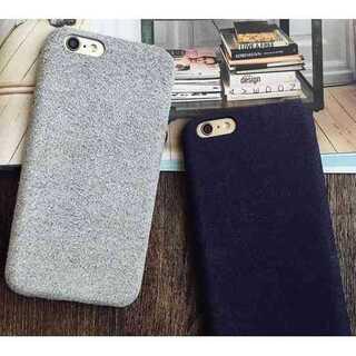 スマホ ケース ダークブルー iphone カバー ファブリック地 柔軟 保護(iPhoneケース)