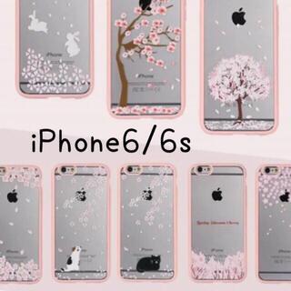 iPhone 6/6s さくらネコソフトケース(iPhoneケース)