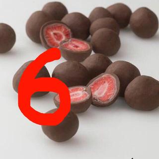 丸ごと苺のミルクチョコレート フリーズドライ イチゴ いちご 6個セット(菓子/デザート)
