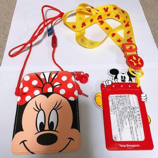 ディズニー(Disney)のミッキー ミニー パスケース(パスケース/IDカードホルダー)