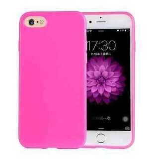 スマホケース iPhone7 ビビッドピンク パステル TPU きれい かわいい(iPhoneケース)
