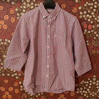 ジーユー(GU)の【GU】7分袖チェックシャツ Sサイズ(シャツ)