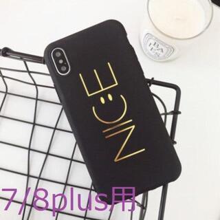 【iPhone7/8plus用:NIC:Eスマイリー】スマホカバー TPU(iPhoneケース)