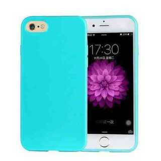 スマホケース iPhone7 ライトブルー パステル TPU きれい かわいい(iPhoneケース)