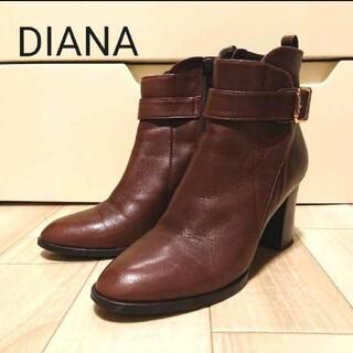 DIANA - DIANA チャッカーブーツ 24cm ブラウン系