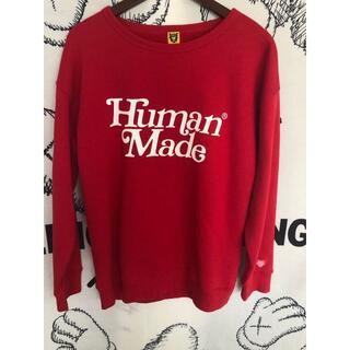 Girls don't cry human made sweat L レッド(スウェット)
