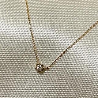 ete - ⭐︎ ete ⭐︎  K18  一粒ダイヤ ネックレス
