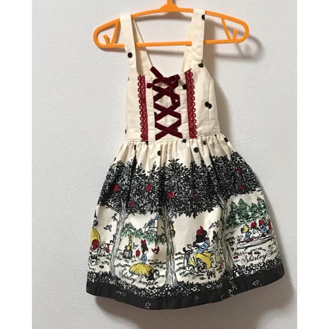 Shirley Temple(シャーリーテンプル)の白雪姫jsk100 キッズ/ベビー/マタニティのキッズ服女の子用(90cm~)(ワンピース)の商品写真