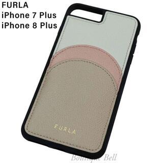 フルラ(Furla)の【FURLA】フルラ レザー ポケット付 iPhone7/8Plus ケース(iPhoneケース)