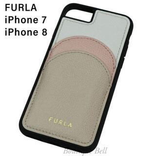 フルラ(Furla)の【FURLA】フルラ レザー ポケット付 iPhone7/8 ケース(iPhoneケース)