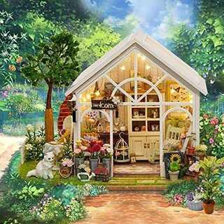 DIY木製ドールハウス ねこ花屋 手作りキット 工芸 趣味 想像力