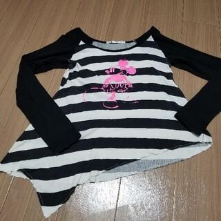 ユニクロ(UNIQLO)のUNIQLO Disney  ミッキーボーダーTシャツ M(Tシャツ(長袖/七分))