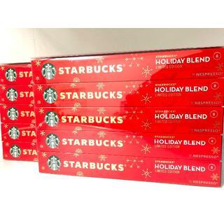 スターバックスコーヒー(Starbucks Coffee)の新品 未使用 ネスプレッソ 限定 スターバックス ホリデー ブレンド 100個(コーヒー)
