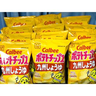 カルビー(カルビー)の【送料無料】カルビー ポテトチップス 九州しょうゆ味12個【匿名配送】(菓子/デザート)