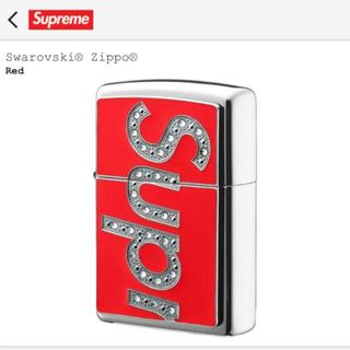 Supreme - Supreme Swarovski Zippo Red