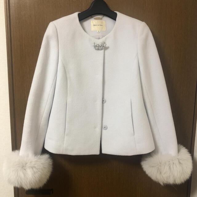 Debut de Fiore(デビュードフィオレ)の美品♡Debut de Fiore ノーカラーコート レディースのジャケット/アウター(毛皮/ファーコート)の商品写真
