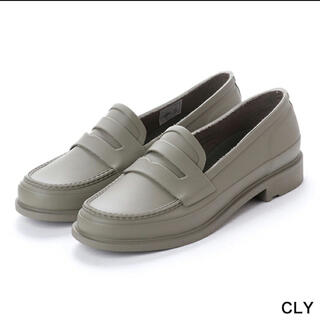 ハンター(HUNTER)の【新品未使用】ハンター ローファー カーキ(CLY)  UK6 25cm(ローファー/革靴)