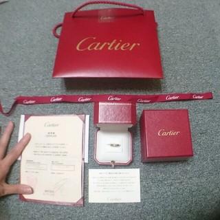 カルティエ(Cartier)の【正規品】一粒ダイヤリング(リング(指輪))