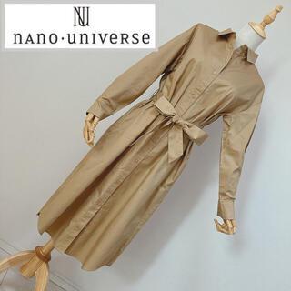 ナノユニバース(nano・universe)のナノユニバース 長袖シャツワンピース ベージュ(ひざ丈ワンピース)