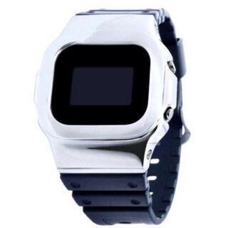 ジーショック(G-SHOCK)のDAMUE Custom G-SHOCK 5600 シルバー メタル (腕時計(デジタル))