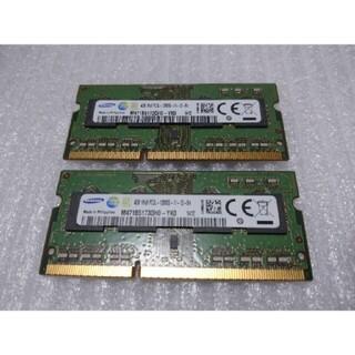 サムスン(SAMSUNG)のノート用DDR3Lメモリ8GB(4GBx2枚) PC3L-12800S(PCパーツ)