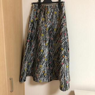 Drawer - Drawer ISA ARFEN フラワージャカードスカート