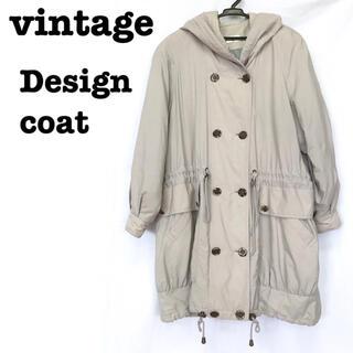 ロキエ(Lochie)の美品【 vintage 】中綿コート モードデザイン ロングコート モッズコート(モッズコート)