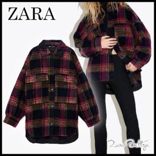 ZARA - ZARA☆*ウールチェックジャケット☆*°新品未使用タグ付き☆*°