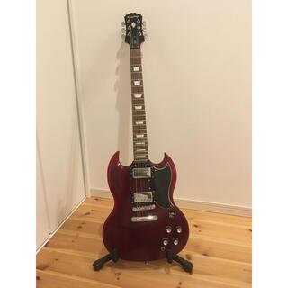 エピフォン(Epiphone)の美品❁︎エピフォンSG-400 エレキギター赤ワインレッド(エレキギター)