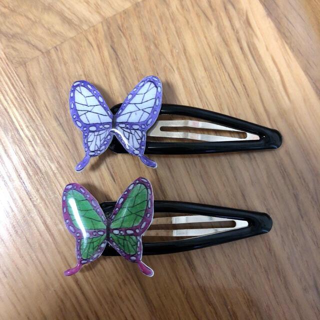 蝶 ヘアピン 2個セット  レディースのヘアアクセサリー(ヘアピン)の商品写真