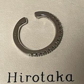 ヒロタカ ダイヤイヤーカフ   K10WG ダイヤ0.07