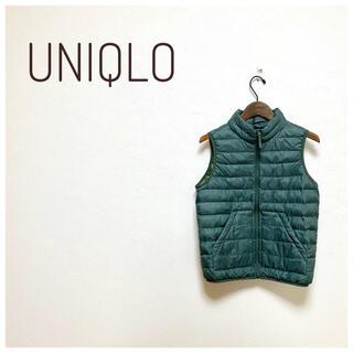 UNIQLO - 美品☆ユニクロ UNIQLO ウルトラダウンベスト グリーン 150