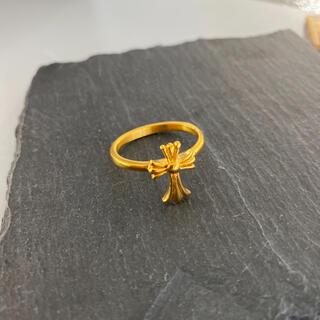 22金仕上げ ベビーファットクロスリング ゴールドクロスリング クラシック(リング(指輪))