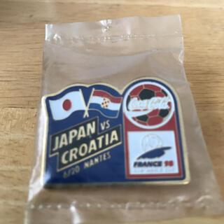 コカコーラ(コカ・コーラ)の☆JAPAN vs CROATIA☆記念ピンバッジ☆未開封☆(バッジ/ピンバッジ)