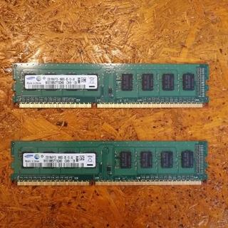 サムスン(SAMSUNG)のPC3-10600U 2GB×2(DDR3-1333) デスクトップ用メモリ(PCパーツ)