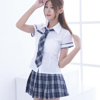 女子高生 ネクタイ付き コスチューム レディースのレディース その他(その他)の商品写真