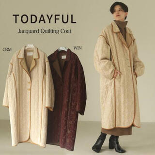 TODAYFUL - 新品 TODAYFUL Jacquard Quilting Coat クリーム