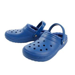 クロックス(crocs)の28cm クロックス classic lined clog ブルー ボア(サンダル)