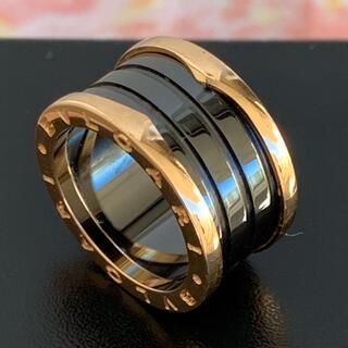 ブルガリ(BVLGARI)のブルガリ ブラックセラミックK18YGビーゼロワンリング(リング(指輪))