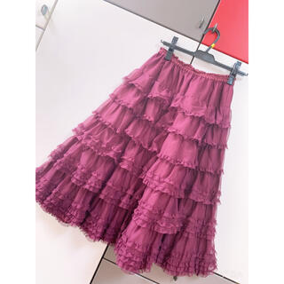 ピンクハウス(PINK HOUSE)のF   ピンクハウス 大人気 チュールレーススカート(ロングスカート)