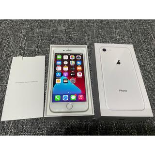 アップル(Apple)の【美品】iPhone8/64GB/SIMフリー(au)/シルバー(スマートフォン本体)
