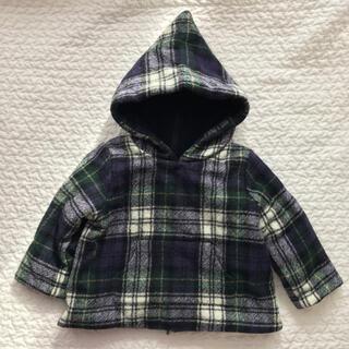 ボンポワン(Bonpoint)のBonpoint ボンポワン 小人 コート チェック柄 サイズ2 80 90(コート)
