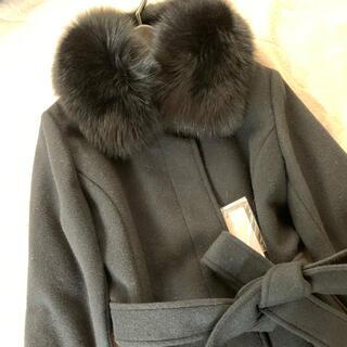 ビッキー(VICKY)の新品 VICKY ビッキー ファー付きコート ブラック 黒 M(ロングコート)