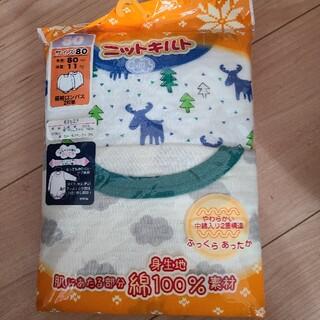 ニシマツヤ(西松屋)の肌着 長袖ロンパース 80(肌着/下着)