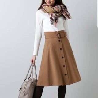 NATURAL BEAUTY BASIC - NATURAL BEAUTY BASIC スカート キャメル