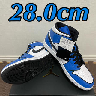 ナイキ(NIKE)のNIKE AIR JORDAN1 MID SIGNAL BLUE シグナルブルー(スニーカー)