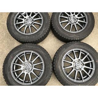 ダンロップ(DUNLOP)の美品深溝 195/65R15 ダンロップ WM01 スタッドレスアルミセット(タイヤ・ホイールセット)